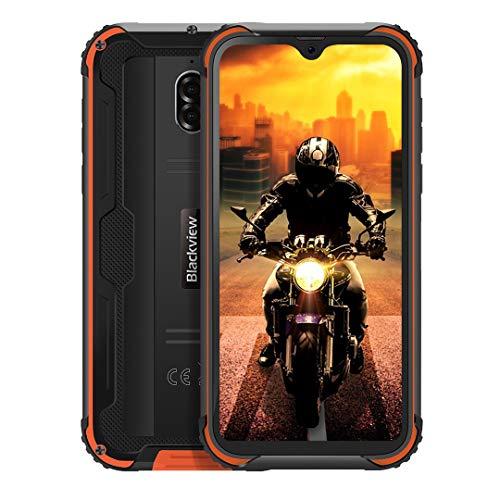 Blackview BV5900 Telefonos Resistentes, 5.7 Pulgadas HD+, 3Go+32GB, Android 9.0 Móvil Libres, Batería 5580mAh, Modo de Cámara Subacuática, IP68 Impermeable/Antigolpes, Smartphone Dual SIM 4G, NFC