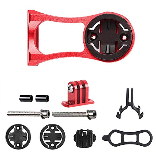 Teabelle Support de Lampe de Poche pour vélo GPS GoPro Action Compatible Montage Compteur de Vélo, Rouge