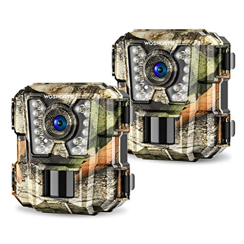 2 Pack Mini Trail Camera 1080P HD Wildlife Scouting Hunting Camera with IR Night Vision Waterproof Video Cam G100 (2 Pack)