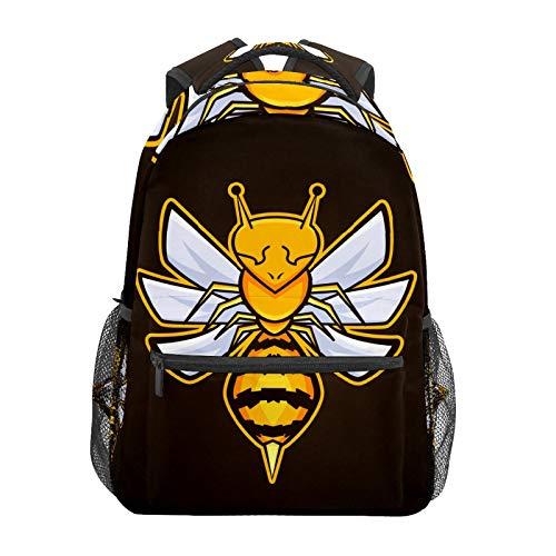 Einzigartiger Insekten-Maskottchen, Wespen-Biene, Schulrucksack, große Kapazität, Segeltuch-Rucksack, Schulranzen, lässiger Reise-Tagesrucksack für Kinder, Erwachsene, Teenager, Damen, Herren