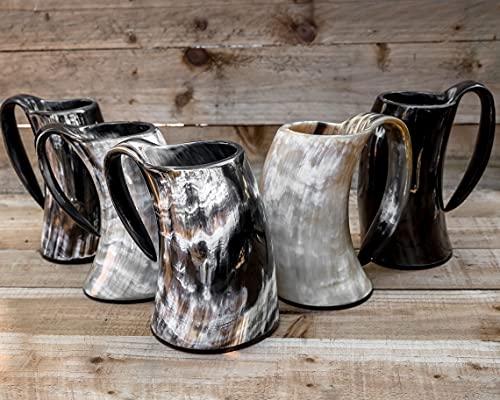 Carfar Juego de 5 tazas grandes de 24 onzas vikingas para beber...