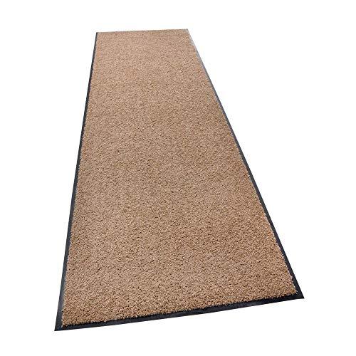 acerto Zanzibar Fußmatte, waschbarer & Rutschfester Türvorleger, ohne PVC für innen und außen (60x120cm - Taupe)