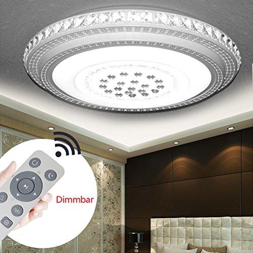 LED Deckenlampe Kristall Plastik 72W Dimmbar Sternenlicht Deckenleuchte Lampe Kreative Energiesparlampe für Flur Wohnzimmer Schlafzimmer Küche Büro (Kristall Round-72W Dimmbar)