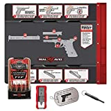 Real Avid Pro Pack for Glock: Gun Cleaning and Maintenance Set for Glock Owners - Multi-Caliber Cleaning kit, Padded Gun mat, disassembly & Maintenance Tools for Glock Pistols and Illustrated Guide