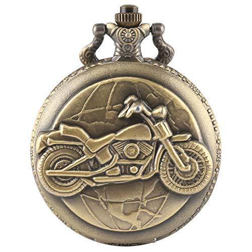 Orologio da tasca uomo, steampunk vintage moto completa Hunter orologio da tasca catena regali, regalo per uomini