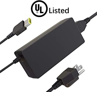 UL Listed 11ft Laptop Charger for Lenovo ThinkPad X1 Carbon T470 T460 T450 T440 Notebook Computer, Square Tip [20V 3.25 65W]