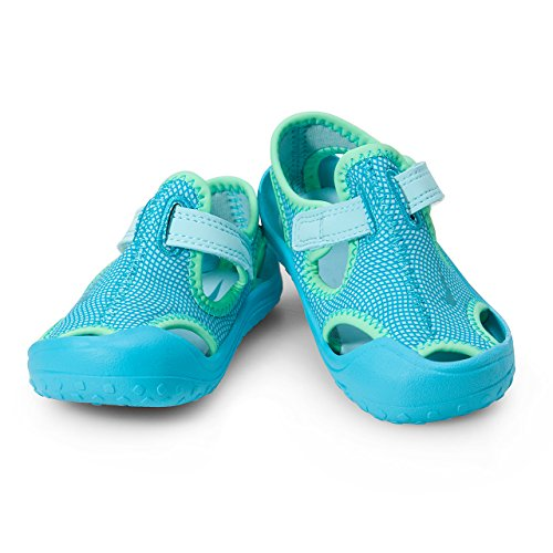 Nike Unisex Kinder Sunray Protect (td) Durchgängies Plateau Sandalen, Blau (Still Blue/Chlorine Blue/Electro Green 400), 18.5 EU