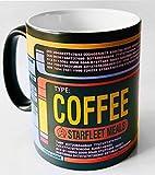 Funny Coffee Mug Star Trek Black Mug Control Panel Inspired Black Satin/Matt Coffee Tea Mug,Anniversary gift,birthday present,uncle,dad,mom,boy friend,girl friend,lover,11oz