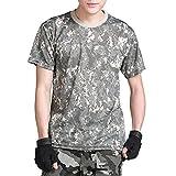 (ガンフリーク) GUN FREAK 迷彩柄 半袖 Tシャツ タクティカル ストレッチ メッシュ サバゲー (ACU 迷彩, XL)