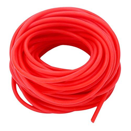 MUXSAM 10M Rotes Natural Latex Rubber Gummiband Tube Tubing Ersatzgummi für Steinschleuder Zwille Schleuder Hunting Shooting 1632