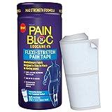 PainBloc24 Flexi-Stretch, Lidocaine 4% Pain Patch, OTC Maximum Strength Lidocaine Patches for Numbing Pain Relief for Knee, Back, Neck, Shoulder, Elbow Pain, 10 Patches