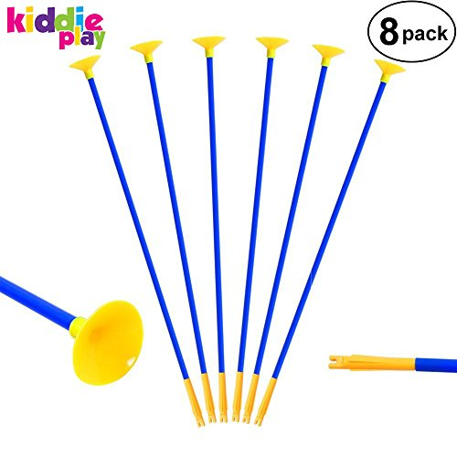 "Kiddie Play Replacement Arrows for Kids Bow and Archery Set Toy Arrows with Suction Cups 20"" (8 Pack)"