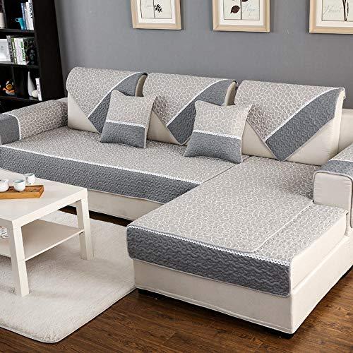 Homeen protector de muebles de sofá, tela impresa seccional sofá cubierta, algodón antideslizante funda de sofá para primavera, verano, otoño, invierno-A_70*150cm