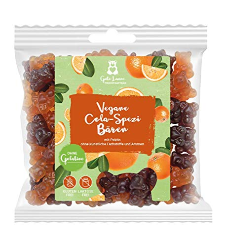 naschlabor x Fruchtsaftbär mit Herz   Vegane Cola-Spezi   20% sortenreine Fruchtsäfte   Ohne künstliche Farbstoffe und Geschmacksverstärker  Gluten- und Laktosefrei