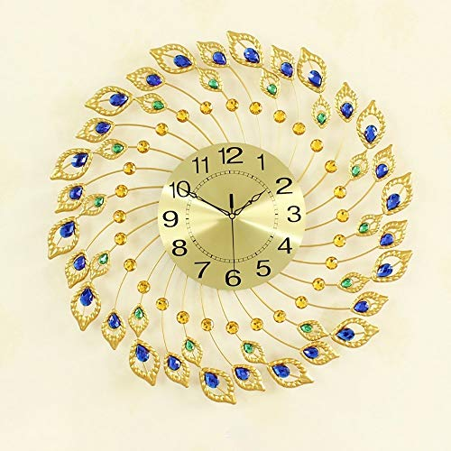 KK Timo Reloj Diseño Creativo Reloj De Pared De Oro Hierro Forjado Mesa Europea del Reloj Sala De Estar Moderna Dormitorio Sala De Estudio Decoración De Cuarzo Reloj De Silencio