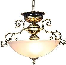 Lampa wisząca w stylu retro, do sypialni, salonu, z regulacją wysokości, metalowa lampa wisząca, E27 x 3, styl vintage, sc...