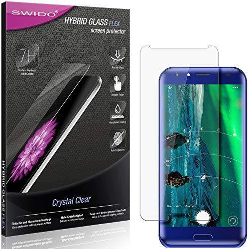 SWIDO Panzerglas Schutzfolie kompatibel mit Doogee BL5000 Bildschirmschutz-Folie & Glas = biegsames HYBRIDGLAS, splitterfrei, Anti-Fingerprint KLAR - HD-Clear