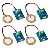 Innovateking-EU 4pcs analogico in Ceramica piezo modulo sensore di Vibrazione 3.3 v / 5 v Analogico Piezoelectricity Ceramica Piezo Sensore per Kit arduino Fai da Te