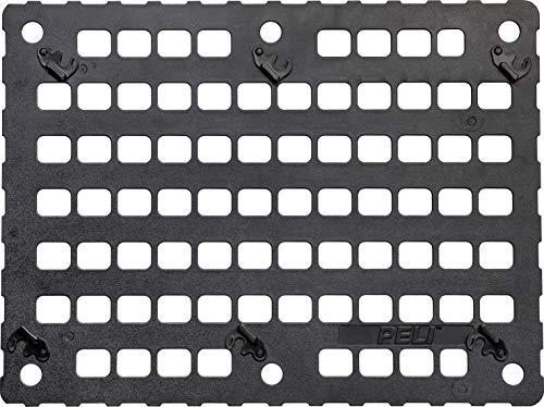PELI Panel MOLLE con tecnología EZ-Click, Accesorio para la Maleta Peli 1560, Organizador de Tapa Desmontable Multiusos para acoplar Bolsillos Molle, Color: Negro