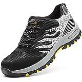 Zapatos de Seguridad para Hombre Mujer con Puntera de Acero Zapatillas de Seguridad Trabajo Calzado de Industrial y Deportiva 0033Grey42