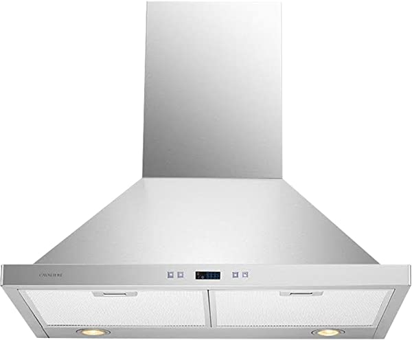 Cavaliere CAV SV218B2 30 Wall Mounted Range Hood Brushed Stainless Steel 900CFM