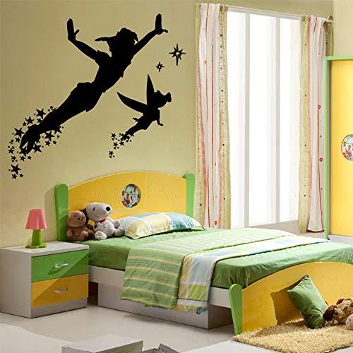 WERWN Pegatinas de pared de anime Elf para dormitorio de niños, niños, dibujos animados y niñas, vinilo para pared