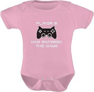 Tstars - Player 3 Has Entered The Game - Gift Third Child Gamer Baby Bodysuit