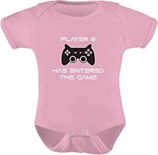Player 3 Has Entered The Game - Gift Third Child Gamer Baby Bodysuit