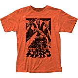 Godzilla vs Ghidorah T-Shirt (Medium) Heather Orange