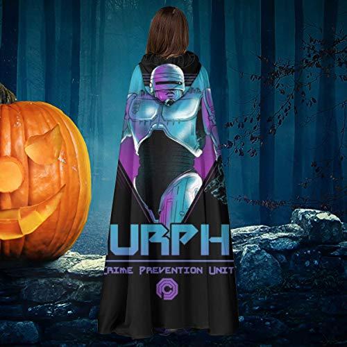 OJIPASD Murphy OCP Crime Unit Robocop Unisex Navidad Halloween Bruja Caballo con capucha Vampiros Capa Cosplay Disfraz
