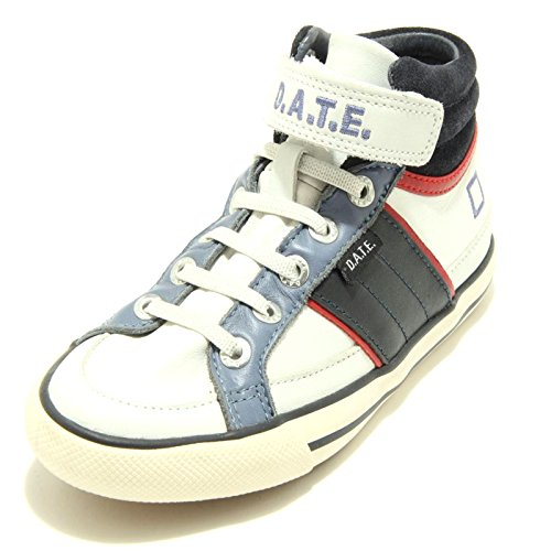 9178F sneaker blu carta da zucchero bianco D.A.T.E. KIDS HILL HIGH JUNIOR...