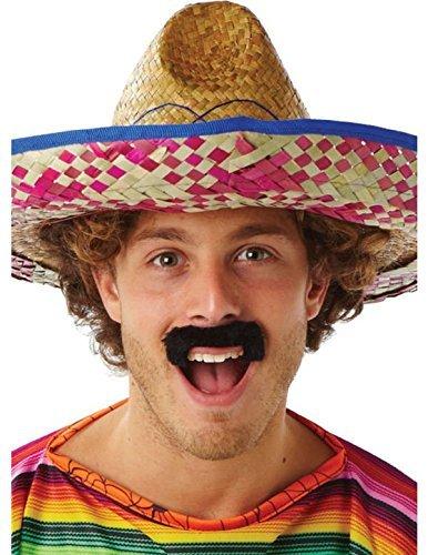 Rubies Officielle Desperado Moustache, déguisement Adulte – Taille Unique