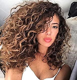 Hetto Full Head Clip in Hair Extensions Human Hair Natural Hair Extensions Curly 16 Inch #4 Dark Brown and #18 Dark Ash Blonde Clip in Extensions for Black Women 7pcs/100g Sew in Clip Double Weft