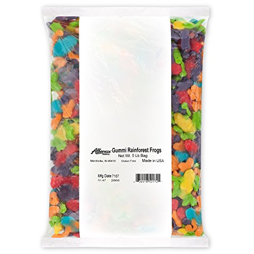 Albanese Confectionery Gummi Rainforest Frogs, 5 Pound Bag