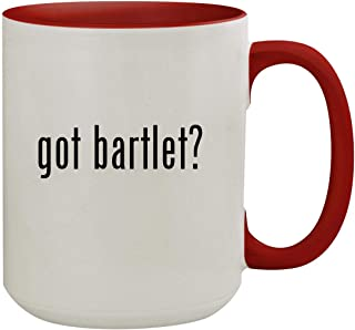 got bartlet? - 15oz Colored Inner & Handle Ceramic Coffee Mug, Red