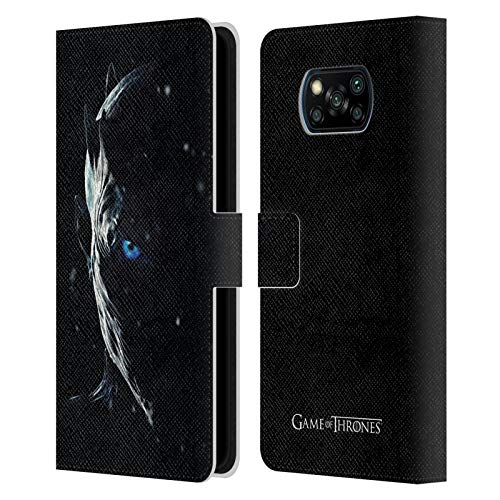 Head Case Designs Licenza Ufficiale HBO Game of Thrones Night King Immagini Promozionali Stagione 7 Cover in Pelle a Portafoglio Compatibile con Xiaomi Poco X3