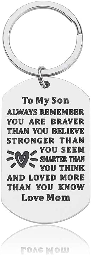 Inspirational Selling and selling Keychain Gifts to Son from School Mom trust Birt Back