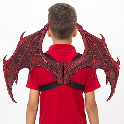 Redxiao 【 】 ala de Cosplay de Carnaval, ala de Carnaval Ligera, Fiesta de Juego de Roles Decorativa para(Red Foam Single Wings)