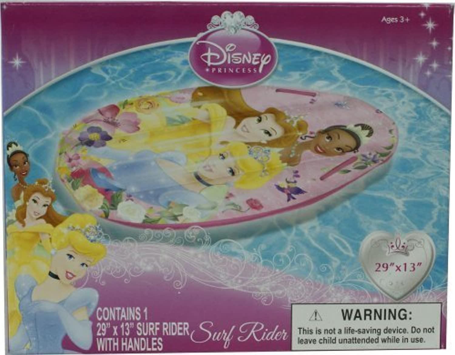 Disney Pricess Inflate 29 X 13 Surf Rider With Handles by What Kids Want
