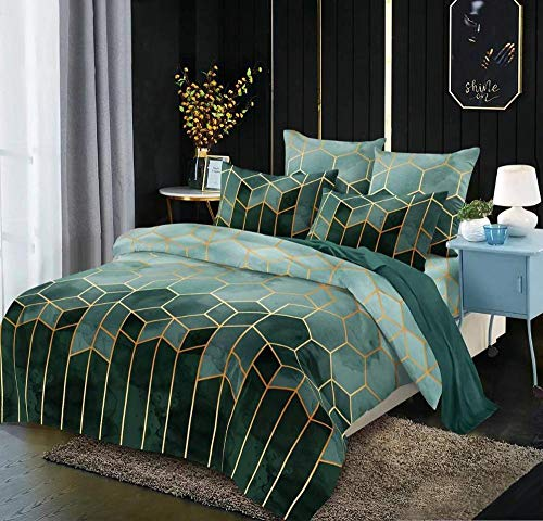 geek cook bedding sets king,Bedding Set Red Duvet Cover Comforter Bed Cover Geometry Quilt Cover-style10_Single 135x200cm