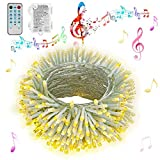 ♪ 12 modalità e suono attivati: 4 diverse modalità musicali consentono alle luci della batteria di sincronizzarsi con la musica (rimuovere la copertura del microfono quando si utilizzano le modalità musicali). 8 modalità di scena creano un ambiente d...