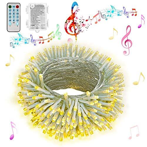 Hezbjiti Luces de cuerda de batería Hezbjiti, 100 luces de