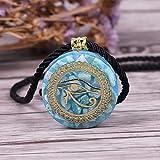 Orgonita Energa Colgante Orgone Amazon Stone Collar Horus Ojo Todo-Viendo Ojos del Diablo Ojo Collar Amuleto Joyera Magntica