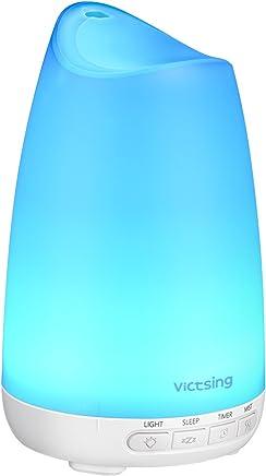 Diffusor Aromatherapie,VicTsing Aroma Diffuser 150ml Luftbefeuchter Ultraschall Vernebler, Ultra Leise Diffuser BPA-Free Öle Diffusor mit 8 Farben LED Humidifier Duftlampe für Kinderzimmer Wohn- Büro