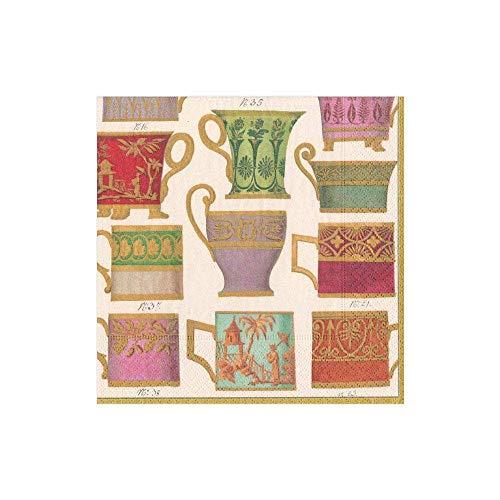 Caspari 13560C Salon de Thé - Tovaglioli di carta, colore: avorio, 20 per confezione