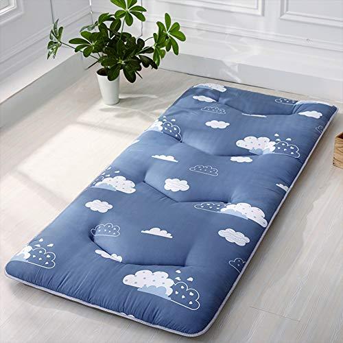 HAOLY Japanischen futon Tatami Kissen matratze verdicken,Bodenmatratze,Kissen-matratzenauflage,Anti-rutsch schlafenden Kissen Faltbare matratze-A 90x200cm(35x79inch)