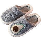 Zapatillas de casa Mujer Ultraligero cómodo y Antideslizante Pantuflas de casa Preciosas Pantuflas de Fondo Grueso de Felpa de Aguacate-Azul,43-44