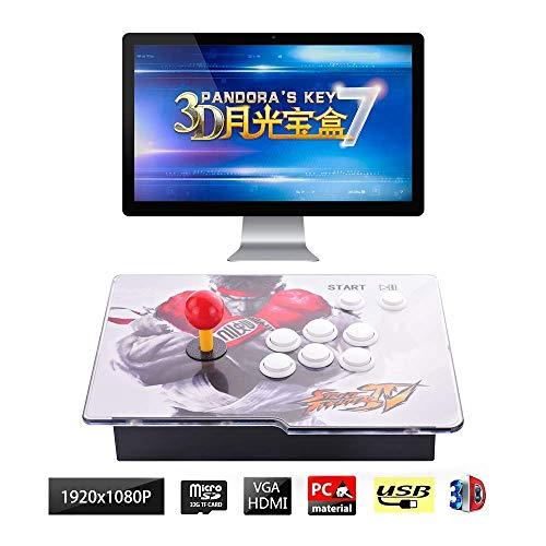 Drohneks 3D Retro Arcade Game Console Arcade Game Console   2413 Retro HD Games(160 in One 3D Games Included)   Full HD 1920x1080   Support Multiplayers   HDMI/VGA/USB/3.5mm Audio Output, HU-09
