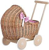 Cochecito de la muñeca de la cesta, cochecito de bebé de sauce natural,Natural willow