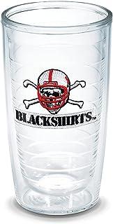 Tervis Nebraska University Black Shirts Emblem Individual Tumbler, 16 oz, Clear -